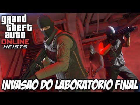 GTA V - INVASÃO do Laboratório Missão FINAL , fuga incrível HEISTS DLC