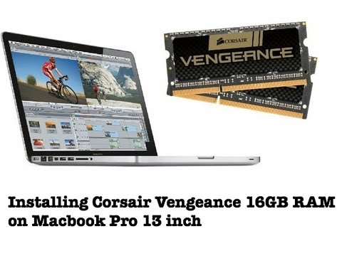 Installing Corsair Vengeance 16GB RAM (1600 MHz) on Macbook Pro 13