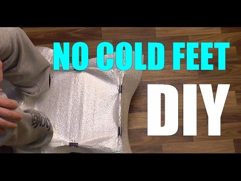 DIY foot warmer. Doesn't need power