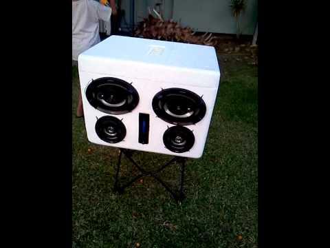 Styrofoam boom box