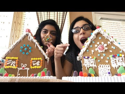GINGERBREAD HOUSE CHALLENGE WITH MY SISTER!