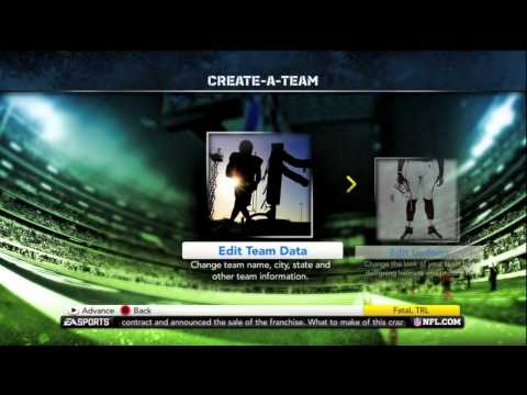 Madden 12: How To Create Your NFL Team