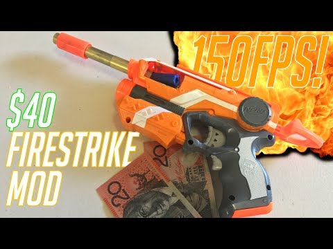 How To Make A $40, 150FPS Nerf Firestrike    Your First Nerf Mod