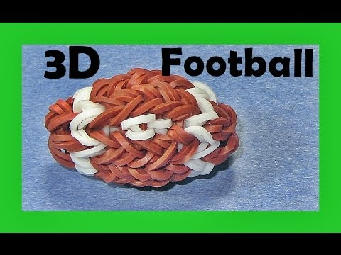 Rainbow Loom Charms -  New 3D Football (DIY Mommy)