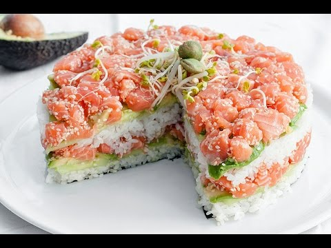 How To make Sushi Cake - Easy Food
