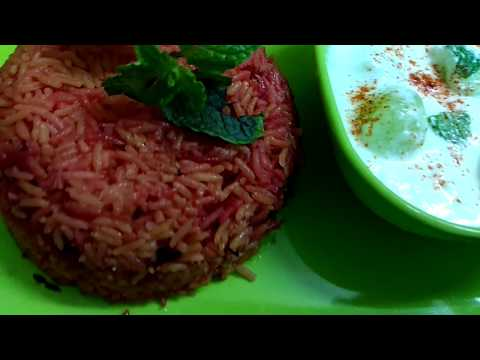 Red pulao / beetroot pulao / beetroot rice