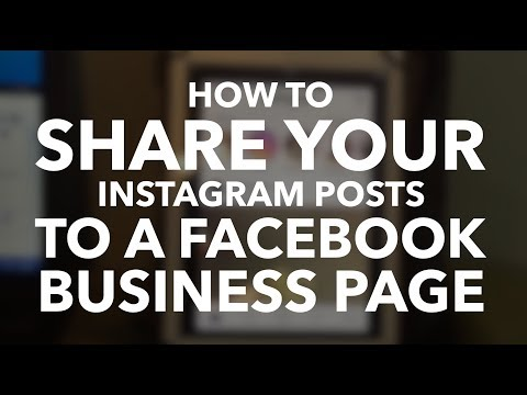 How to post from Instagram to Facebook Pages/Instagram to Facebook business pages