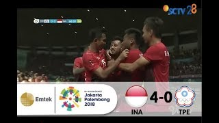 Chinese Taipei 0 vs 4 Indonesia | Full Highlights Sepak Bola Asian Games 2018