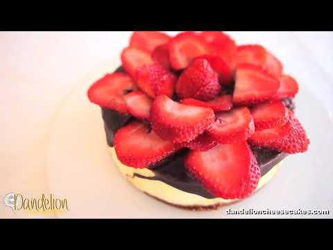 Dandelion Cheesecakes     Strawberry Rose Chocolate Cheesecake