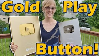 Unboxing the GOLD PLAY BUTTON!!