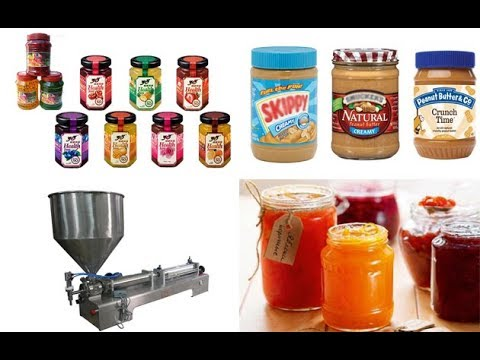 Peanut Butter Grinding And Filling Machine Working Video