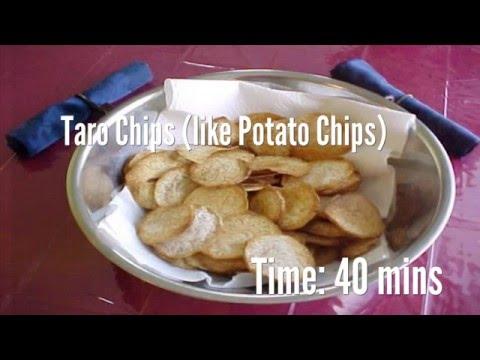 Taro Chips (like Potato Chips) Recipe