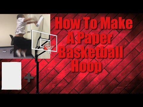 How To Make A Paper Basketball Hoop/ Trickshots!!!