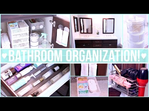 Bathroom Organization Ideas ♡ Dollar Store Organization