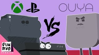 "Console Cartoon parody | ""Ouya vs Xbox one vs Ps4"""