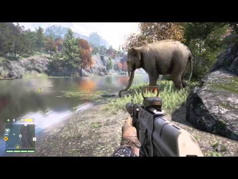 Far Cry 4 - Elephant vs Crocodile