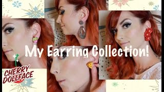 My Earring Collection: A Vintage Style Earring Haul by CHERRY DOLLFACE