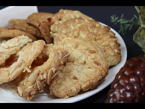 Pignoli Cookies/Almond Macaroons/Italian Macaroons. One simple recipe - 3 different cookies!