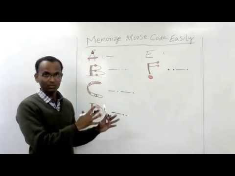 Memorize Morse Code Easily (A to Z and 0 to 9)