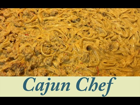 Real Cajun Crawfish Fettuccine (ABSOLUTELY DELICIOUS RECIPE)