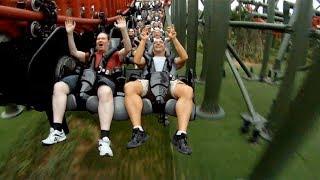 Dinoconda POV S&S 4th Dimension Roller Coaster Dinosaurs Park China