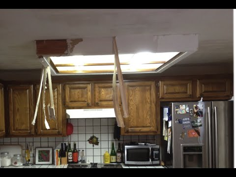 How To Remove Fluorescent Ceiling Light Box