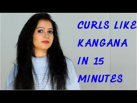 How To Do Kangana Hairstyle At Home/ How to do curls with straightener || TipsToTop By Shalini