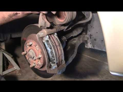 How to Change Front Brake Pads in 10 Minutes! Mazda Protege Example