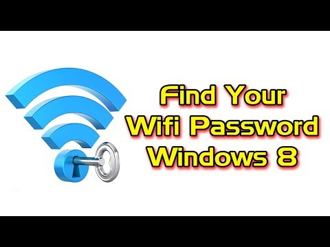 How to find your wifi password in windows 8