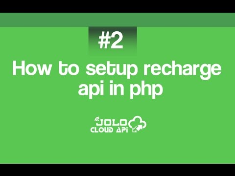 How to integrate recharge api in php by jolo.in and joloapi.com
