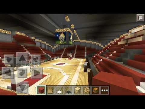 minecraft pe basketball arena