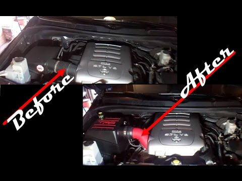 Tundra TRD Intake Install - With Before & After Audio