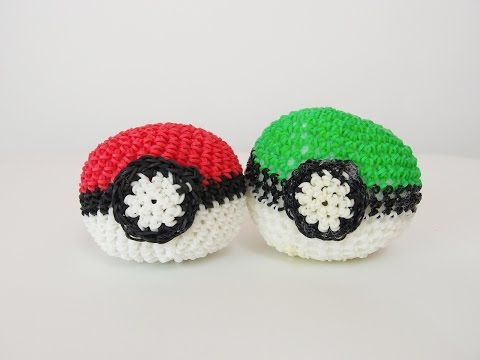 Pokémon Poké Ball Rainbow Loom Bands Amigurumi Loomigurumi Hook Only Tutorial