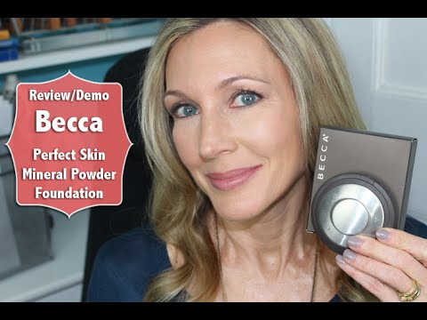 Becca Perfect Skin Mineral Powder Foundation Review + Demo