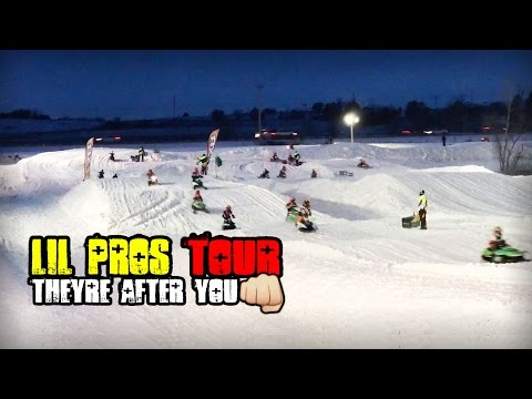 Lil Pros SNOW TOUR! Kids Snowmobile Racing - ERX Motor Park Grassroots Snocross Series - Minnesota