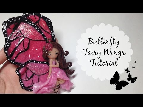 TUTORIAL: Polymer Clay Butterfly Fairy Wings- NO PAINT!