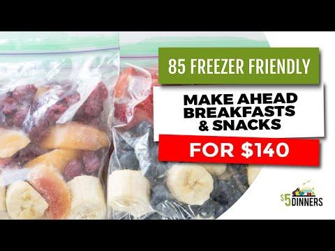 85 Freezer Friendly, Make Ahead Breakfasts & Snacks for $140
