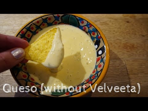 How to make Queso/Cheese Dip (without velveeta)