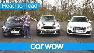Audi Q2 vs MINI Countryman vs Volvo V40 XC review   Head2Head