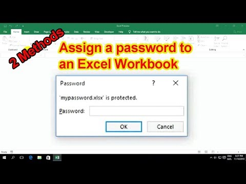 2 methods for protect workbook in Ms Excel 2019