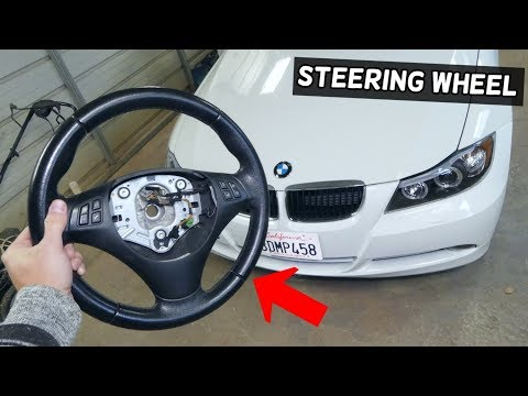 HOW TO REMOVE AND REPLACE STEERING WHEEL ON BMW E90 E92 E91 E93