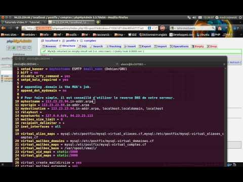 Tutoriel vidéo : Installer un serveur de mail avec Postfix et courier