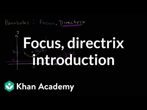 Focus and directrix introduction | Conic sections | Algebra II | Khan Academy