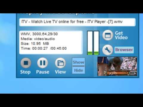 How to Record ITV.com live using Replay Video Capture
