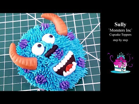Sully Cupcake Topper Tutorial