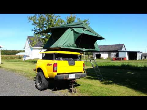 Nissan Frontier Truck Bed Off-Road Trailer - Lifting Top
