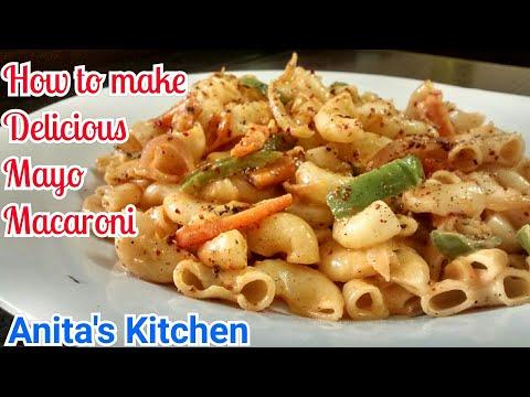 Mayo Macaroni Recipe | Veg Mayo Macaroni | Delicious Mayo Pasta | Best recipe for kids