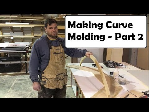 How to make accurate curved moldings with a router Part 2