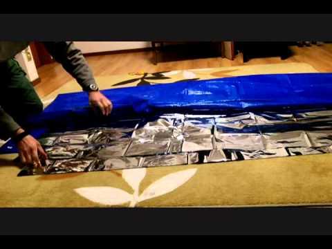 How to make a sleeping bag.
