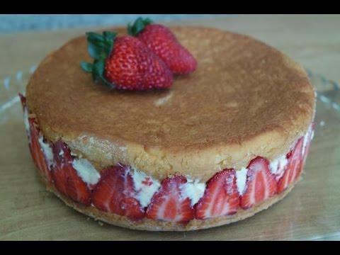 STRAWBERRY CAKE / FRAISIER RECIPE | EM'S BAKING